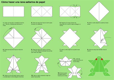 Make Frog With Paper - origami domestika