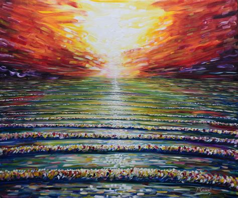 large paintings very large painting for sale of the sunset at saunton
