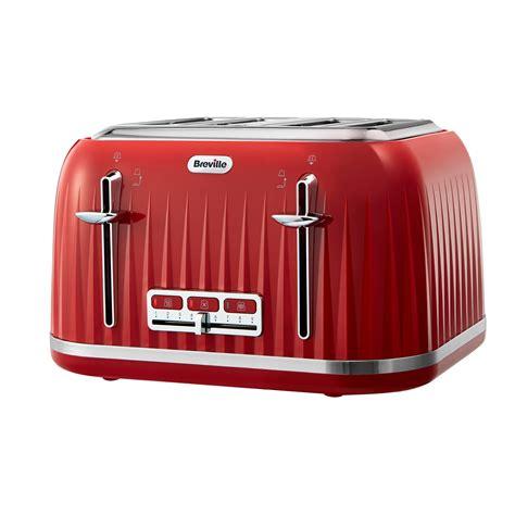 Breville Red Impressions 4 Slice Toaster Vtt783