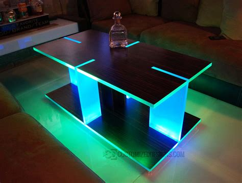 coffee tables with led lights led coffee table