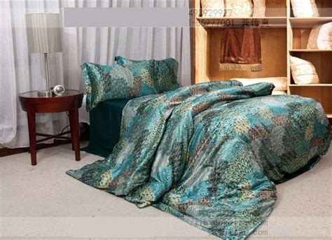 silk comforter sets king size blue green peacock tail natural mulberry silk comforter