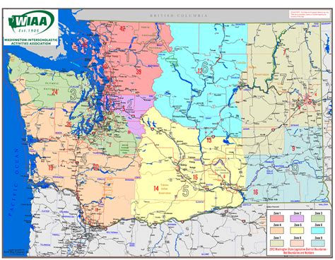 washing state map wiaa washington interscholastic activities association