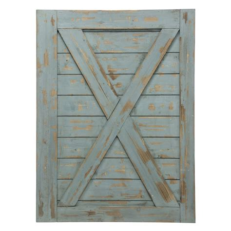 Barn Door Wall Decor Blue Gray Wooden Barn Door Wall
