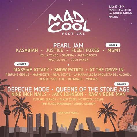 mad coll mad cool festival 2018 desvela su cartel por d 237 as provisional dod magazine