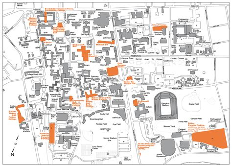 princeton map princeton interactive cus map my