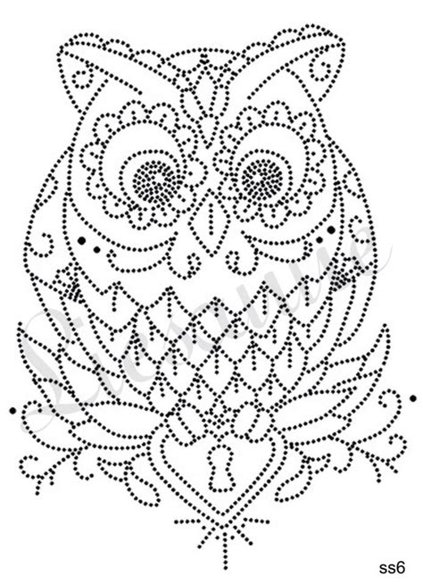 Owl String Template - 429 best kaart borduren dieren images on paper