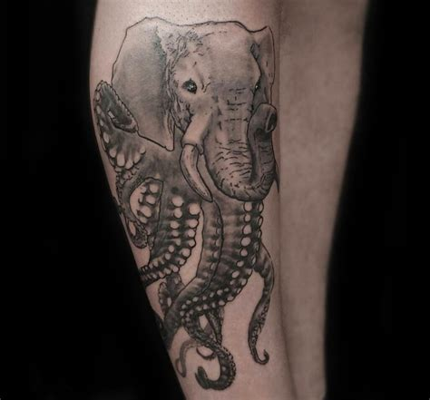 elephant octopus tattoo octopus meaning ink vivo
