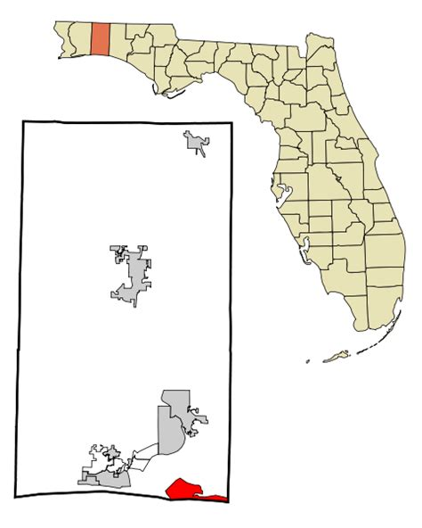 Okaloosa County Search File Okaloosa County Florida Incorporated And Unincorporated Areas Destin Highlighted