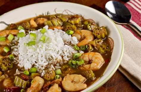 cajun cuisine shrimp and okra gumbo is and rich with a bold spice