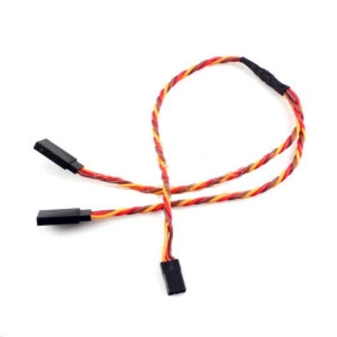 Harnest 15cm universal futaba quot j quot and jr servo y harness 26awg twisted wire 6 inch 15cm value hobby