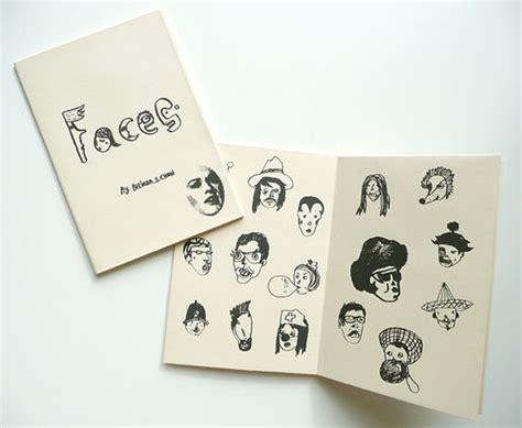 Handmade Zine - printed zine faces handmade zine typography