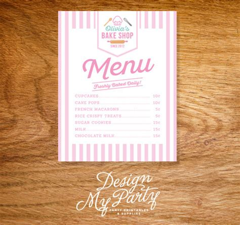 free bakery menu template sle bakery menu template 15 documents in