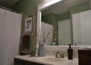 Bathroom Mirror Frame Ideas by Dwelling Cents Bathroom Mirror Frame