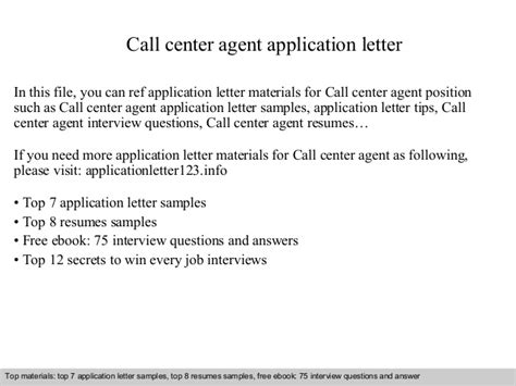 Call Centre Resume Sample by Call Center Agent Application Letter
