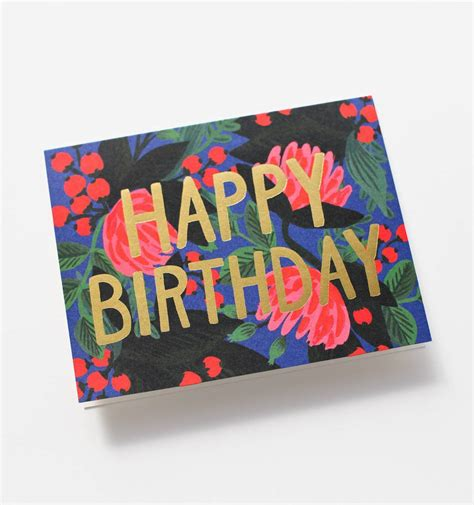 greetings for floral foil birthday greeting card by rifle paper co