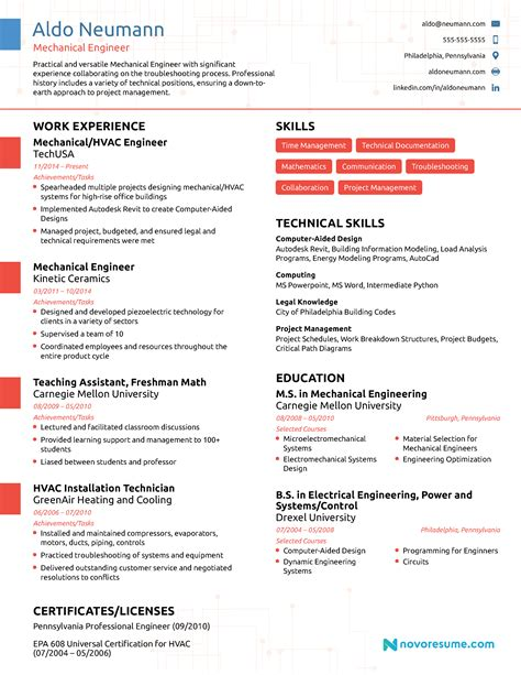 Engineering Resume by Engineering Resume 2018 Exle Guide