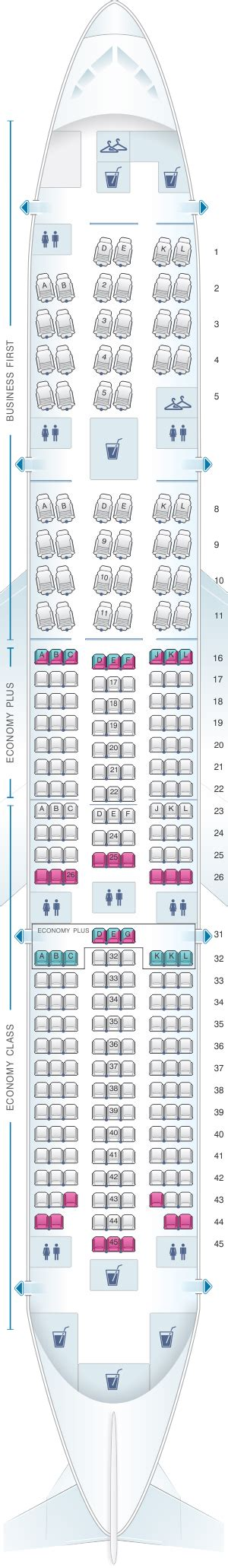 united 777 200 seat map mapa de asientos united airlines boeing b777 200 777