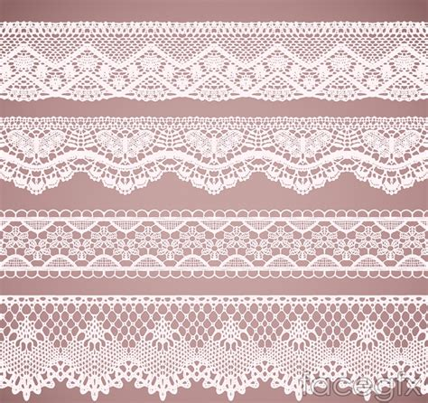 lace template 4 white lace pattern vector free