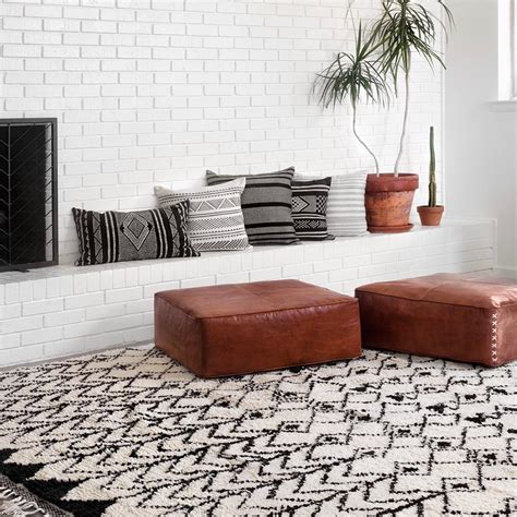 Pillow Floor - leather floor pillow moroccan pillows the citizenry