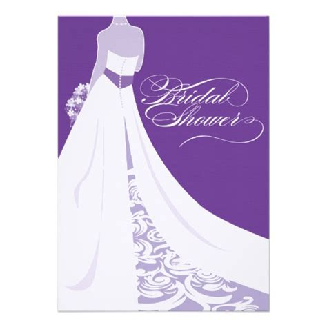 purple bridal shower invitation 5 quot x 7 quot invitation