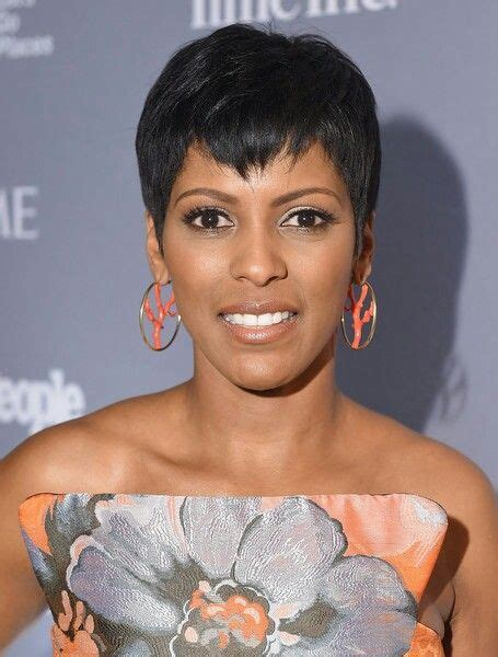 tamron hall debuts her natural wavy crop on today show tamron hall in orange and gray tamron hall love her