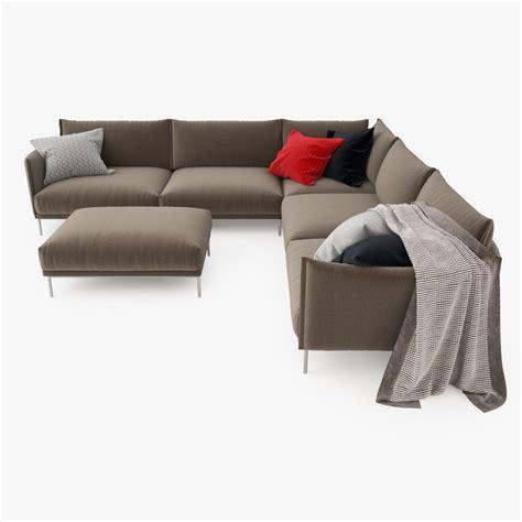 sectional model moroso gentry sectional sofa 3d model max obj fbx mtl