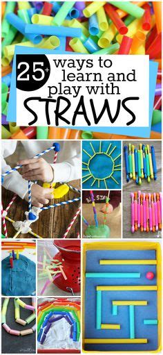 Creative Children Straw Sedotan Kacamata preschool science experiments lessons activities printables preschool science experiments