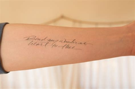 the truth tattoos bind my wandering by andy luce temporary tattoos of