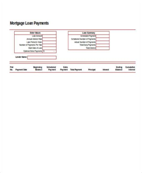 mortgage payment calculator template 6 mortgage payment calculator payment sles