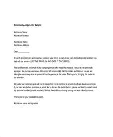 Business Apology Letter Out Of Stock 9 Letter Of Apology Templates Free Sample Example