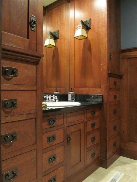 mission style bathroom master bath craftsman interior pinterest