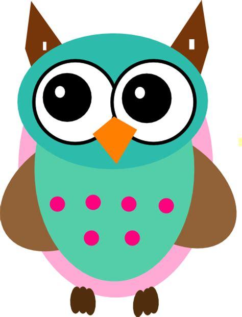owl clipart aqua pink owl clip at clker vector clip