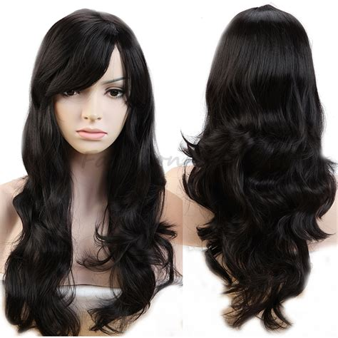 Wig Wavy 19 quot popular wigs curly wavy heat resistant synthetic hair wig