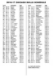 knicks home schedule chicago bulls announce 2016 17 schedule chicago bulls