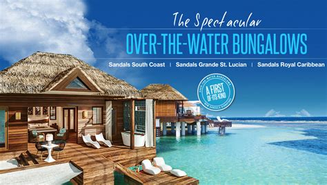 the water bungalows sandals sandals overwater bungalows now destination weddings