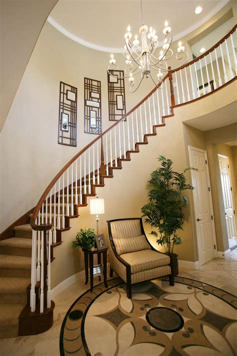 Home Design Interior Stairs | amazing luxury foyer design ideas photos with staircases