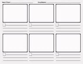 Storyboarding Template by Mr Randall S Classroom Primary