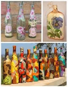 C 243 mo decorar botellas de vidrio con servilletas 6 pasos