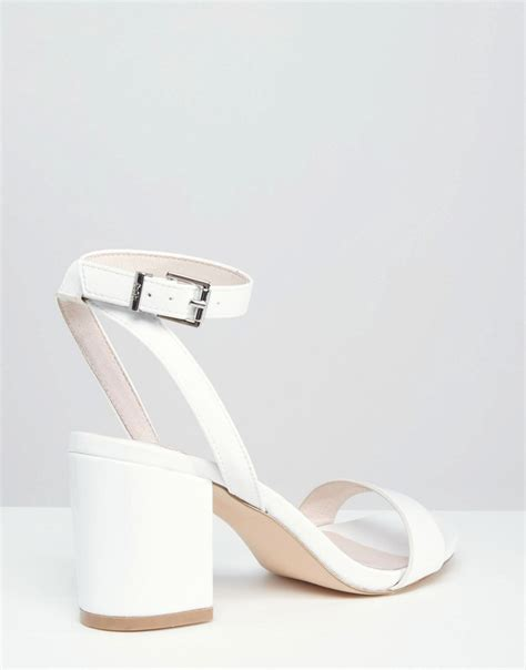 mid heel white sandals faith white barely there mid heel sandals in white