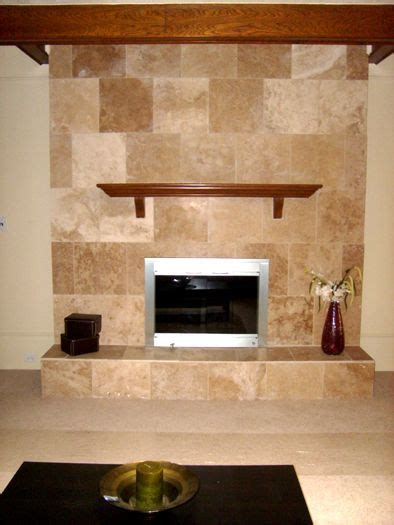 travertine tile an outdated brick fireplace fireplace
