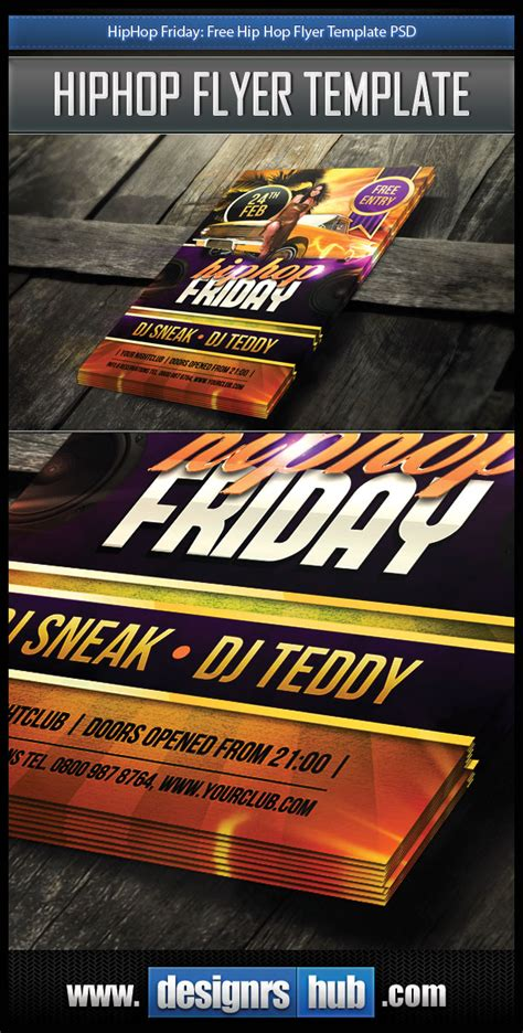 free hip hop flyer templates hiphop friday free hip hop flyer template psd