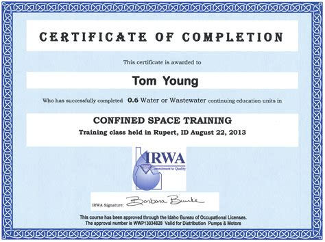 confined space training class