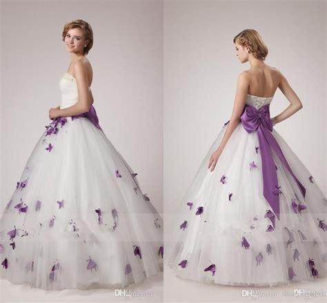 Discount Wedding Dresses Unique by Discount White And Purple Wedding Dresses Unique A Line