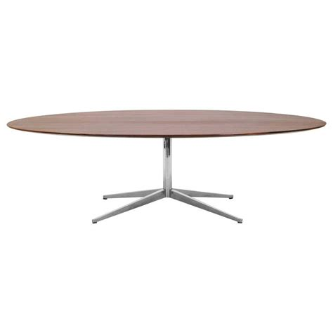 96 Inch Dining Table Florence Knoll Elliptical Oval 96 Inch Rosewood Dining Or Conference Table At 1stdibs