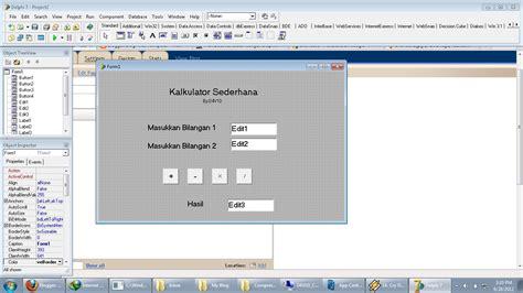 tutorial delphi membuat kalkulator membuat kalkulator sederhana dengan delphi7 cara berhijab