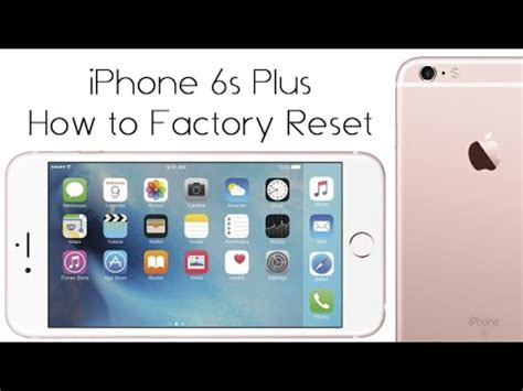 iphone factory reset iphone 6s plus how to reset back to factory settings h2techvideos