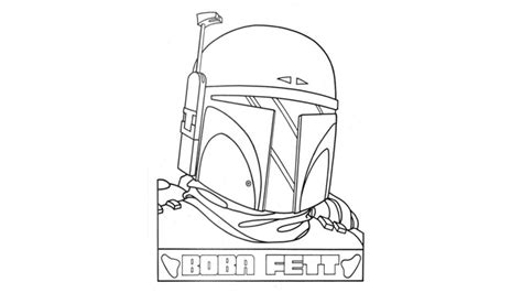 the gallery for gt star wars coloring pages boba fett helmet