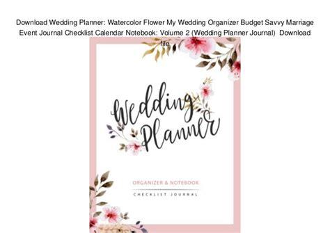 Download Wedding Planner Watercolor Flower My Wedding