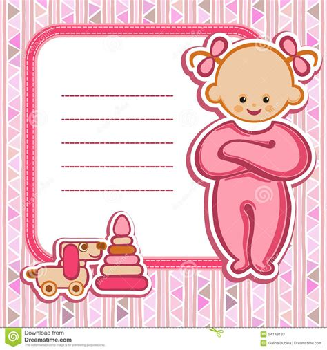 card for baby girl stock vector image 54148133