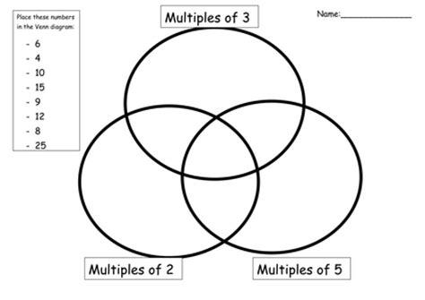 venn diagram questions ks2 factors multiples and primes tes